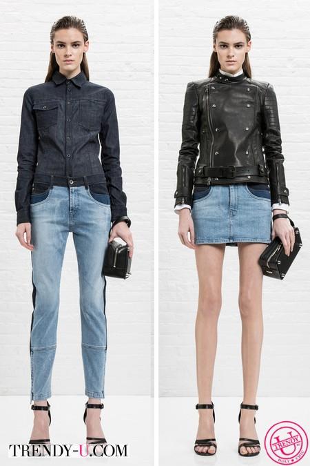 Модные джинсы и юбка весна-лето 2014 Diesel 2014