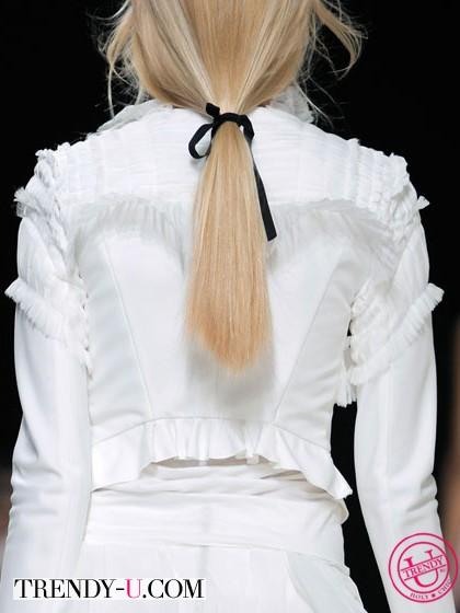 Модный конский хвост весна-лето 2014 Nina Ricci