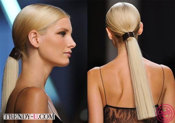 Модная прическа на длинные волосы от Jason Wu 2014