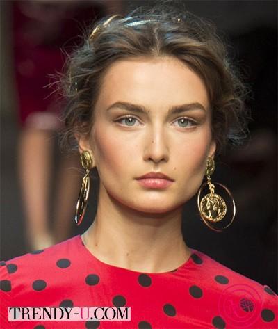 Золотые серьги Dolche & Gabbana SS 2014