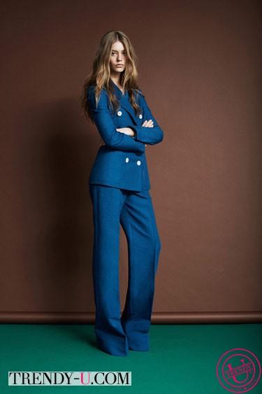 Костюм из денима Louis Vuitton Resort 2014