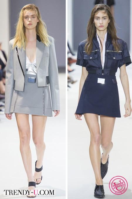 Платье, юбка и куртка от Paco Rabanne весна-лето 2014