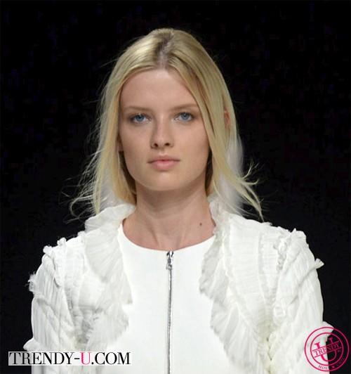 Модная прическа с показа Нины Риччи весна-лето 2014