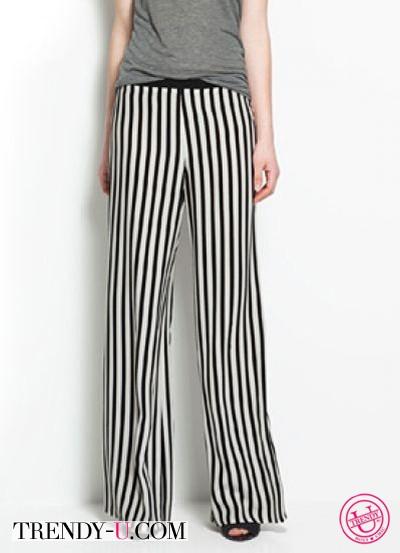 Вертикальные полосы на брюках