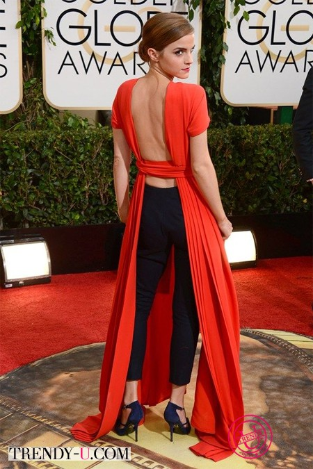 Эмма Уотсон в красном откровенном платье