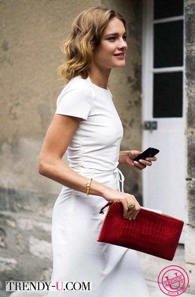 Белое платье на Наталье Водяновой