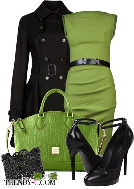 Черный и зеленый