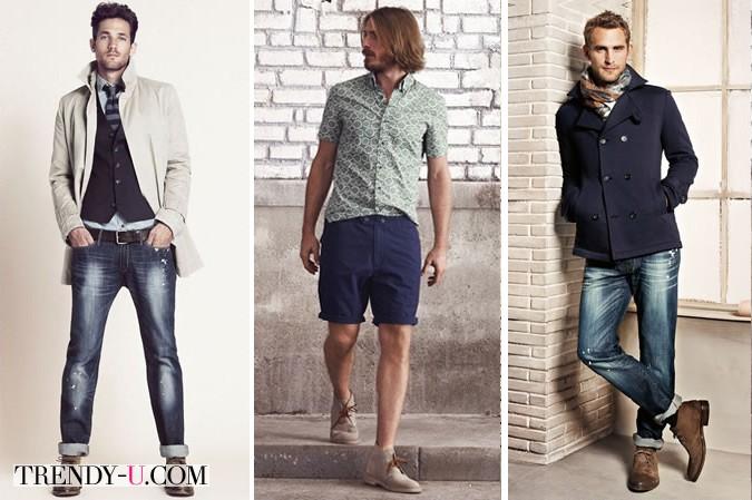 Дезерты в сочетании с джинсами и шортами