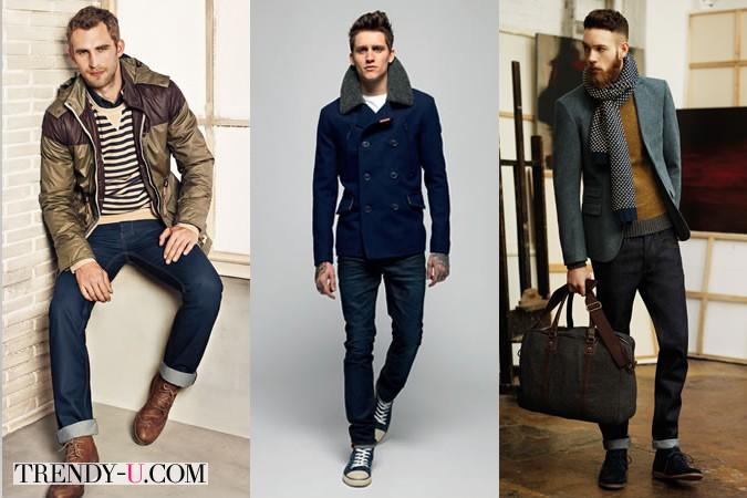 Модные мужчины в джинсах
