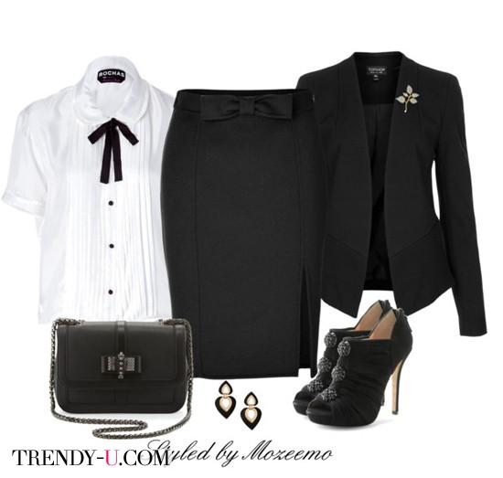 Комплект одежды в деловом стиле для собеседования