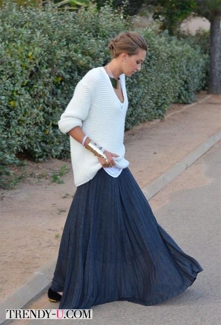 Вот так не нужно носить длинную юбку!