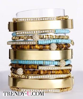 Стильный сет браслетов
