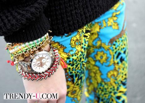 Браслеты и часы носить так!