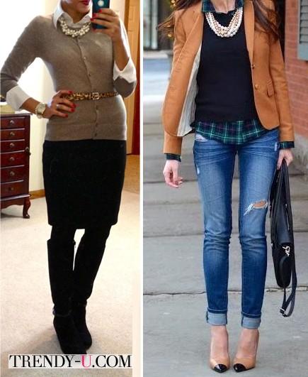 Жемчужные бусы на современных модницах