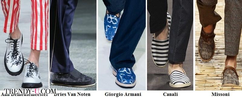Мужская обувь с принтом и декором весна-лето 2014