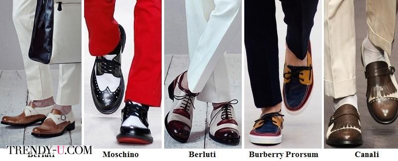 Обувь с контрастными вставками весна-лето 2014