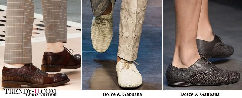 Мужская обувь из перфорированной кожи весна-лето 2014