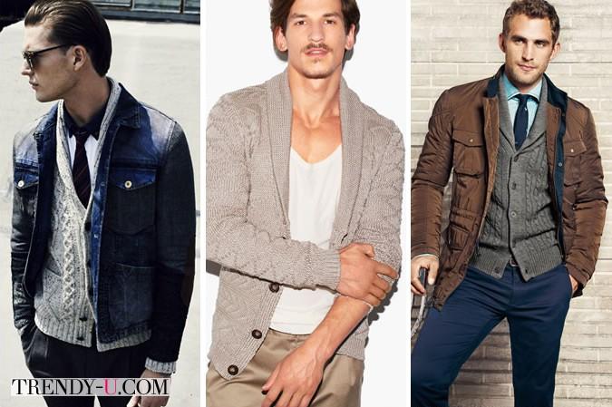 Кардиган - нужная вещь в мужском гардеробе