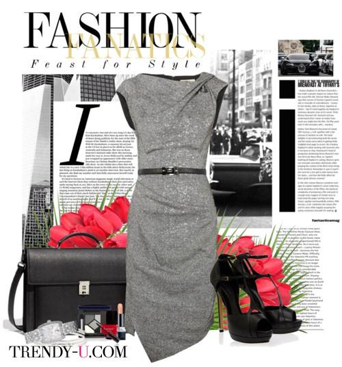 Платье-футляр и аксессуары