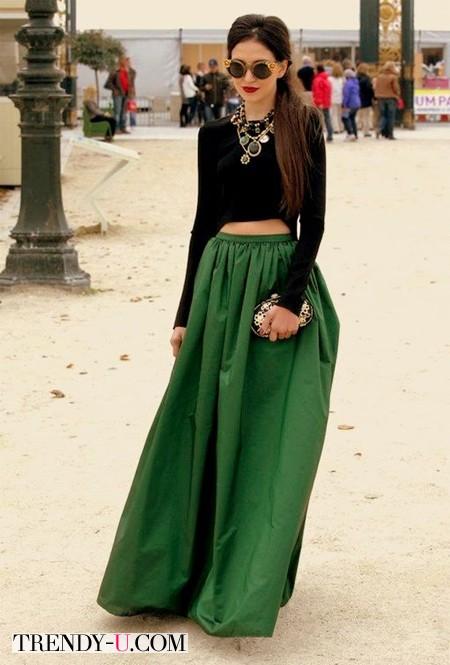 Длиная юбка как проводник энергии