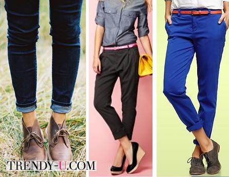 Ботинки, туфли и босоножки в сочетании с чиносами