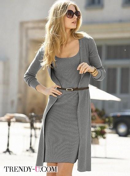 Серый + серый + коричневый = стильно!