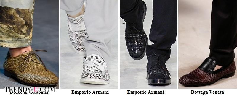 Туфли и лоферы из перфорированной кожи 2014