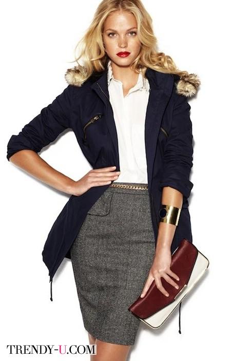 Одежда в деловом стиле, аксессуары и украшения