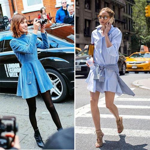 Алекса Чанг и Оливия Палермо носят голубые платья