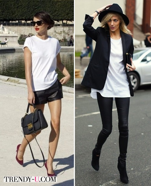 Миранда Керр и Анна Рубик в белых футболках