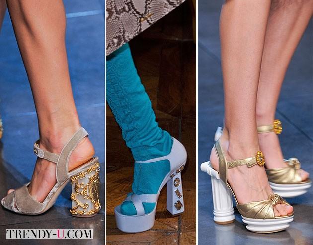 Модные босоножки от Dolce & Gabanna весна-лето 2014