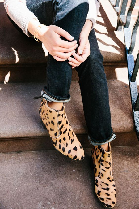 Ботильоны с леопардовым принтом