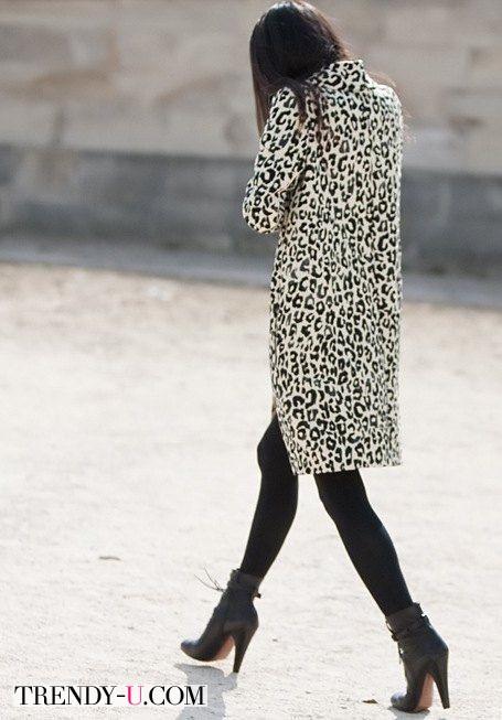 Стильный лук с леопардовым принтом