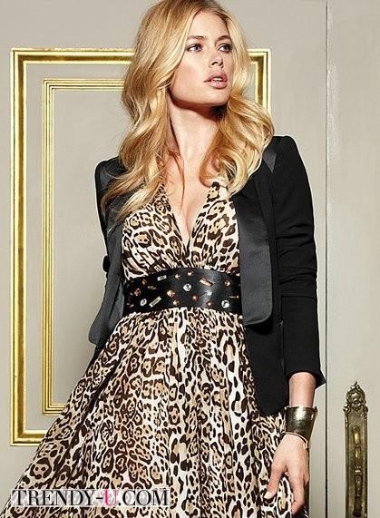 Макияж к платью с леопардовым принтом