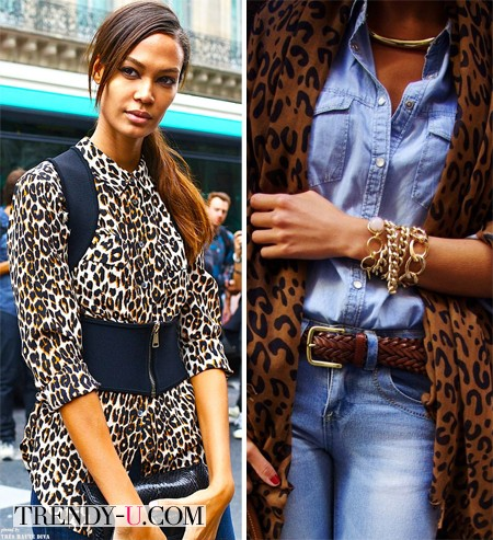 Леопардовый принт и деним