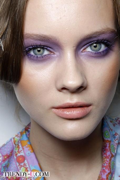 Фиолетовые тени - лавандовое платье