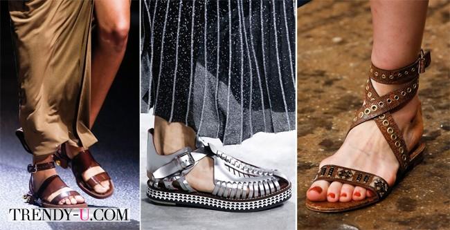 Стильные сандалии для лета 2014