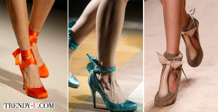 Модная обувь весна-лето 2014 с бантом