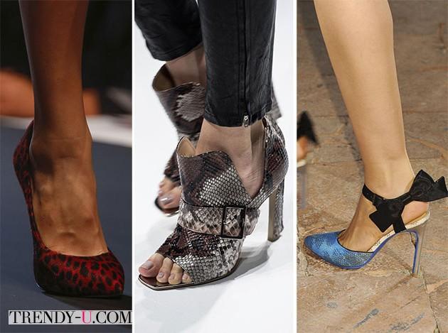 Модная обувь с хищным принтом весна-лето 2014
