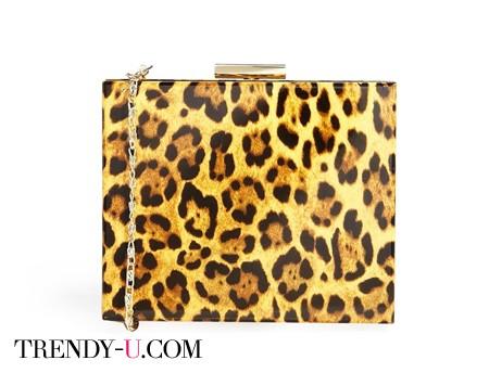 Клатч с леопардовым принтом