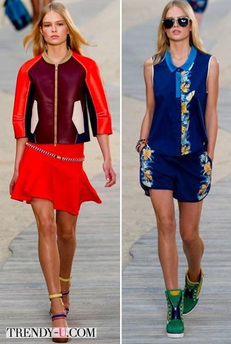 Модная одежда в спортивном стиле от Tommy Hilfiger SS 2014