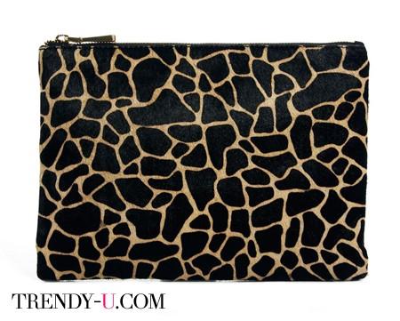 Кожаный клатч с имитацией расцветки жирафа