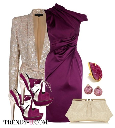 Фиолетовый и золото