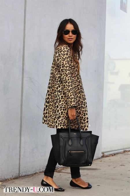 Look с леопардовым пальто