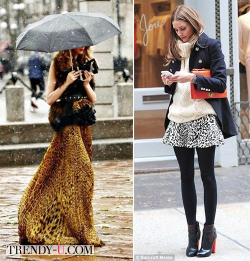 Вот так носить юбку с леопардовым принтом