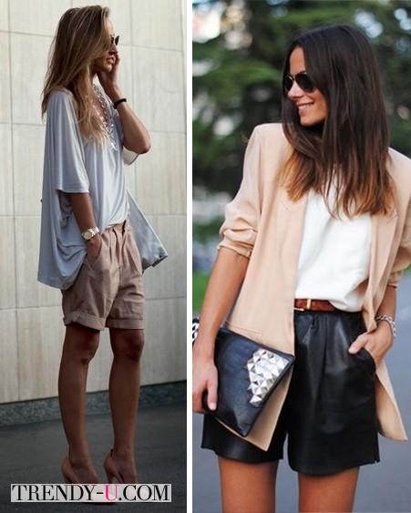 Свободные удлиненные шорты и пиджак