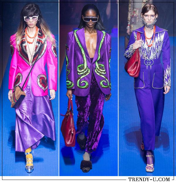 Ультрафиолет в коллекции Gucci весна-лето 2018