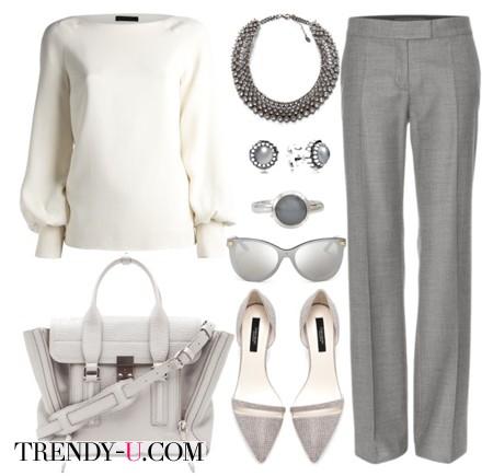 Белая блузка и деловой стиль
