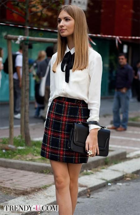 Белая блузка и килт