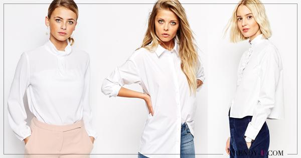 e6ef98510d5 C чем носить белую блузку осенью и весной 2019  25 эффектных образов ...